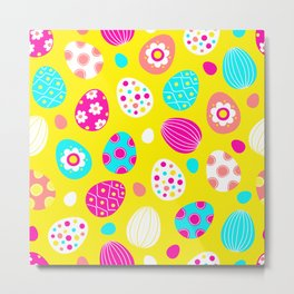 Easter Egg Party Pattern Metal Print