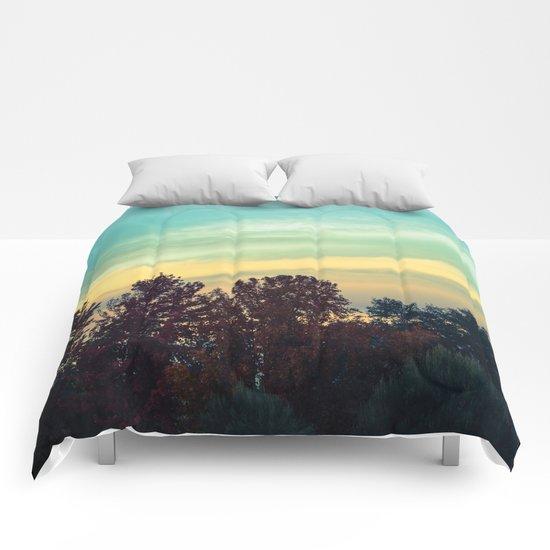 Protean Autumn Sky Comforters