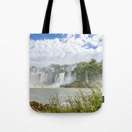 Waterfalls Landscape at Iguazu Park Tote Bag