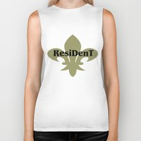resident evil Biker Tanks featuring Resident by anto harjo