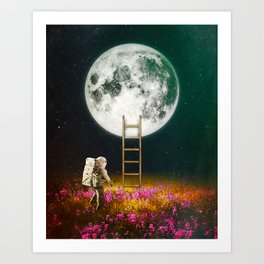 Going To The Moon Art Print