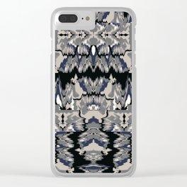 Ikat Glitch no. 1 Clear iPhone Case