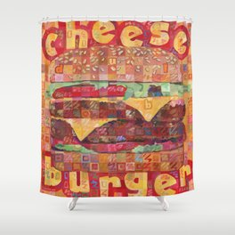 Double Cheeseburger Shower Curtain