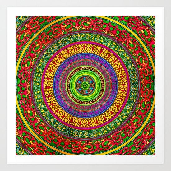Mandala Pop Palace Art Print