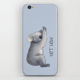 Koala Sketch - Not Now - Lazy animal iPhone Skin