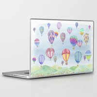 ballon Laptop & iPad Skins featuring Hot Air Ballon Festival by J Square Presents
