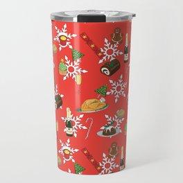 Christmas food festive pattern Travel Mug