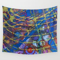 grid Wall Tapestries featuring Grid by Heather Plewes Art