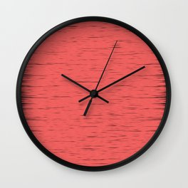 LIVING CORAL - WITH DARK FRAYED EDGES Wall Clock
