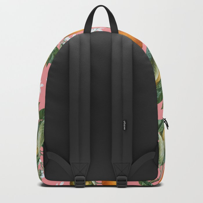 Lemon and Leaf Pattern V Backpack
