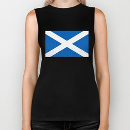 National flag of Scotland - Authentic version to scale and color Biker Tank