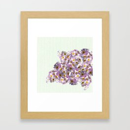 In the land of green and pink Framed Art Print