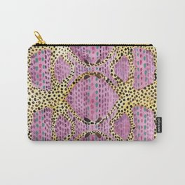 Pink Spotted Cheetahs Carry-All Pouch