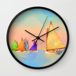 Rainbow Fleet Wall Clock