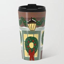 Rustic Christmas Night Travel Mug