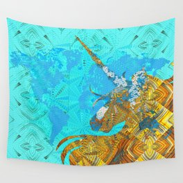 Ancient Magic World Map Wall Art Wall Tapestry