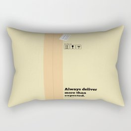Lab No. 4 - Always Deliver More Than Expected Motivational Typography Quotes Poster Rectangular Pillow