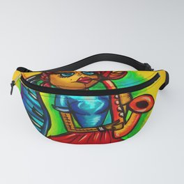 Voodoo doll saxophone player Fanny Pack