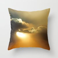 oklahoma Throw Pillows featuring Oklahoma Sky by Clipper and Nana Carrillo