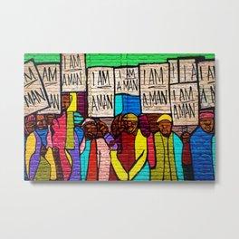 African American Masterpiece 'I Am A Man' Portrait Metal Print