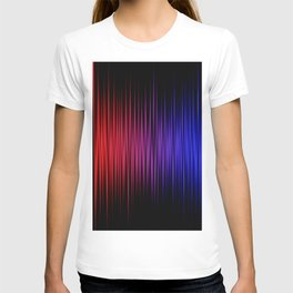 Colorful lines on black background T-shirt