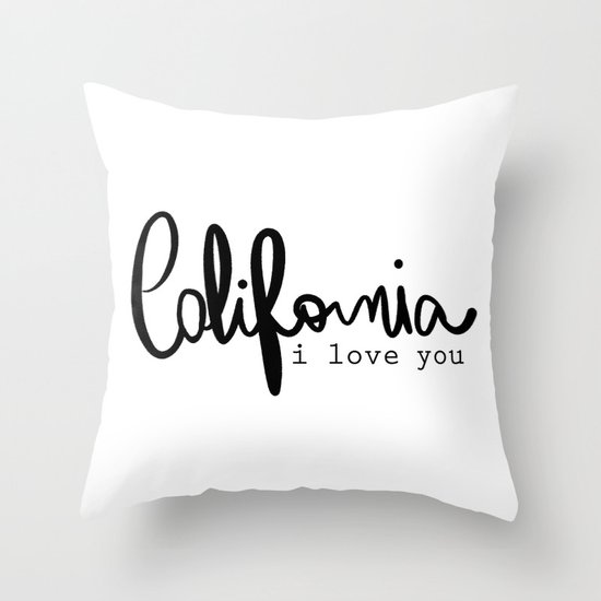 California i love you  Throw Pillow
