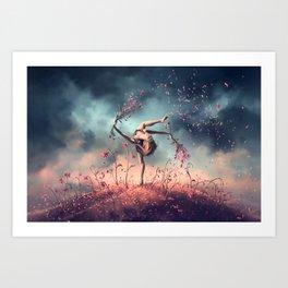 VIRGO from the Dancing Zodiac Art Print