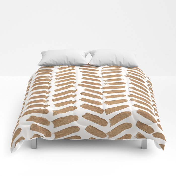 Gold Chevron Comforters