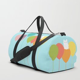 Fluffy bunnies and the rainbow balloons Duffle Bag