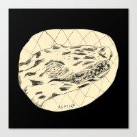 crocodile Canvas Prints featuring Crocodile by Mr. JJ