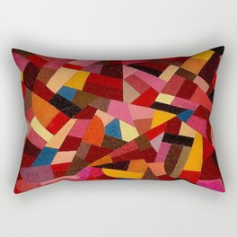 Komposition 1940 Mid Century Modern Abstract Geometric Colorful Pattern Painting Otto Freundlich Rectangular Pillow