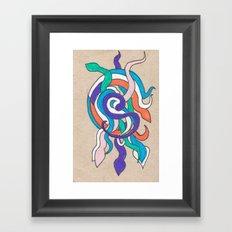 snake knot Framed Art Print
