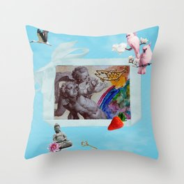 My private heaven Throw Pillow