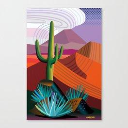 Thunderhead Builds in Arizona Desert Canvas Print