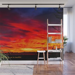 Sunsets Are Proof That Endings Can Be Beautiful Wall Mural
