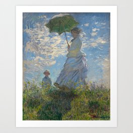 The Walk, Woman with a Parasol by Claude Monet Art Print