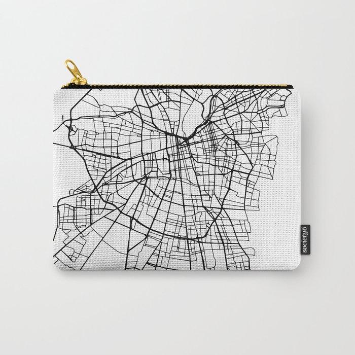 SANTIAGO DE CHILE BLACK CITY STREET MAP ART Carry-All Pouch