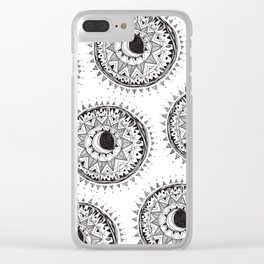 Moon Mandala Clear iPhone Case