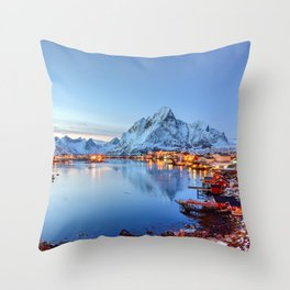 Lofoten islands, Norway Throw Pillow