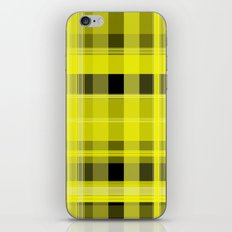 Yellow and Black Plaid iPhone Skin