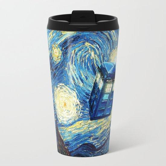 Soaring Tardis doctor who starry night iPhone 4 4s 5 5c 6, pillow case, mugs and tshirt Metal Travel Mug