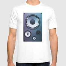 Stereo Sound Mens Fitted Tee White MEDIUM