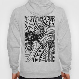 bluering octopus and boxer crab in tribal Hoody