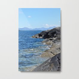 Hebrides Cliffs Metal Print