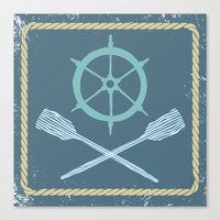 nautical Canvas Prints featuring Nautical! by Pizza Party