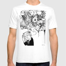 A Heavy Heart MEDIUM Mens Fitted Tee White