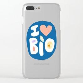 I LOVE BIOLOGY Clear iPhone Case