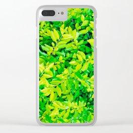 hojas verdes Clear iPhone Case