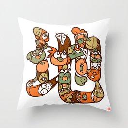 地 - EARTH Throw Pillow