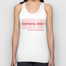 EXISTENTIAL ANGST Unisex Tank Top